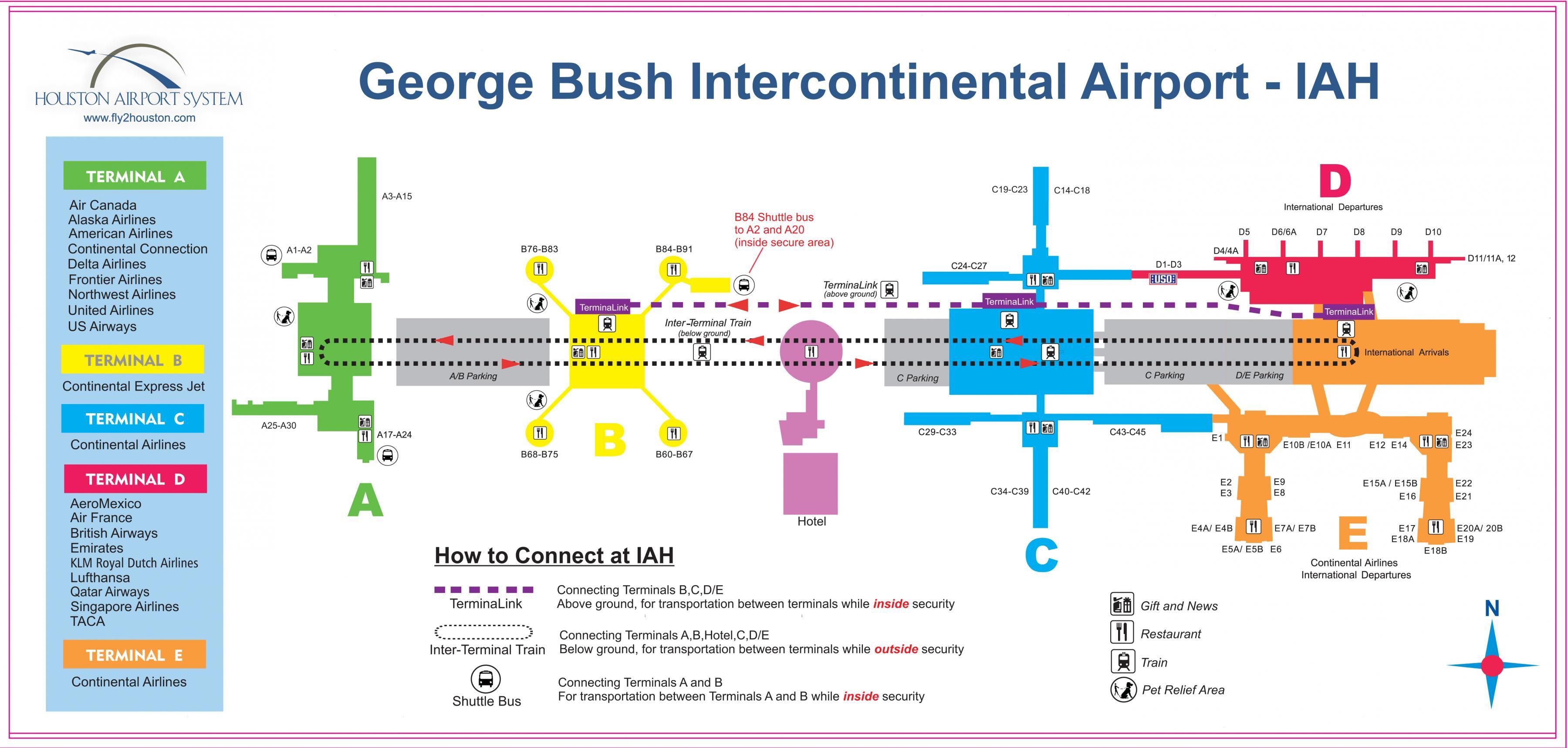 IAH terminal c map - Houston airport terminal c map (Texas ... on