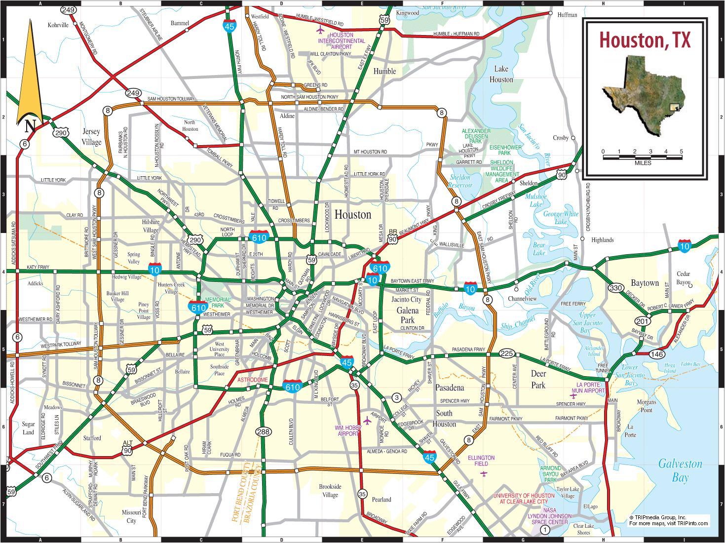 Map Of Houston Texas Houston On Texas Map Texas USA - Usa map texas
