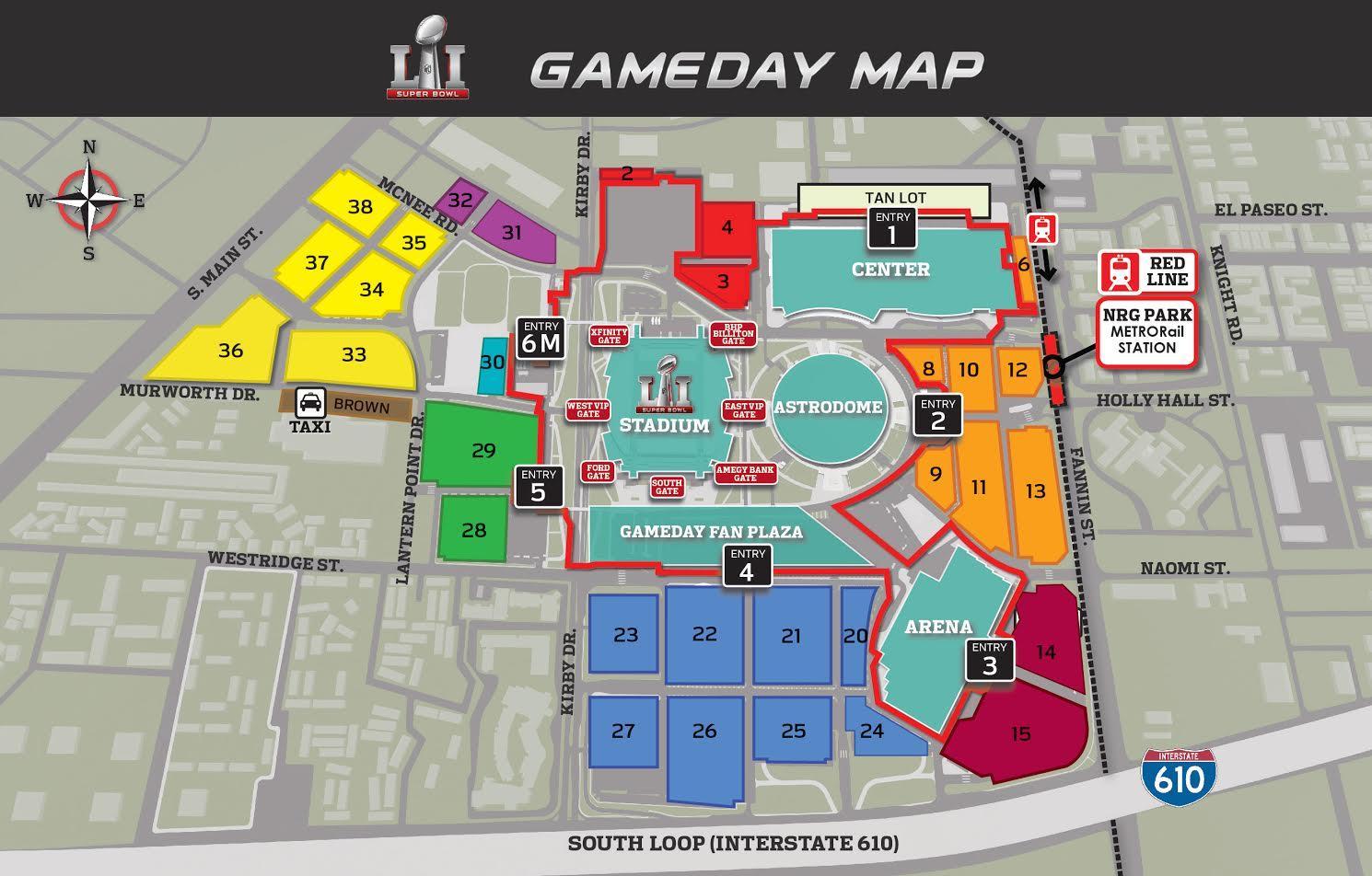 Nrg Stadium Map NRG parking map   NRG stadium parking map (Texas   USA) Nrg Stadium Map