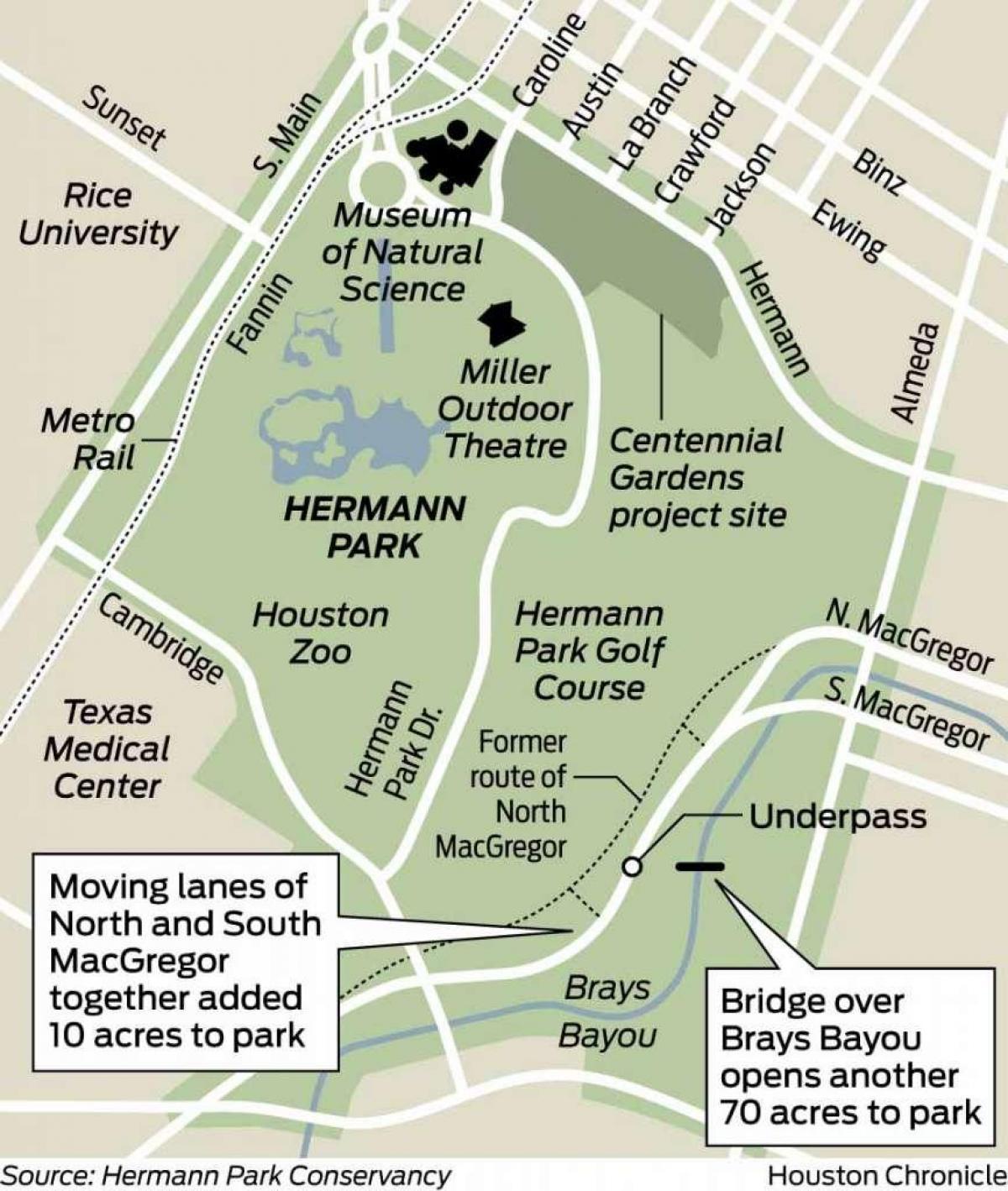 Hermann Park Map Hermann park map   Map of Hermann park (Texas   USA) Hermann Park Map