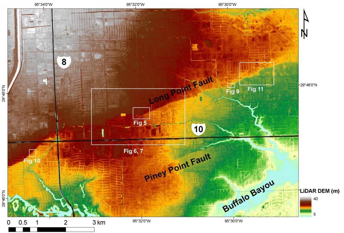 Houston elevation map Houston tx elevation