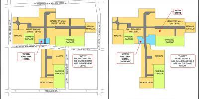 Houston Galleria Mall Map Galleria mall map   Houston Galleria mall map (Texas   USA)