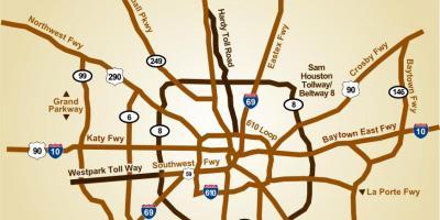 Toll Roads In Houston Map.Houston Map Maps Houston Texas Usa
