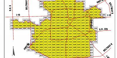 Houston map - Maps Houston (Texas - USA)