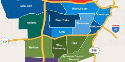 Houston school district map - HISD school zone map (Texas - USA)