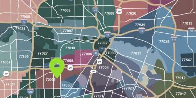 Zip code map Houston - Houston map with zip codes (Texas - USA) Zip Code Map Houston on