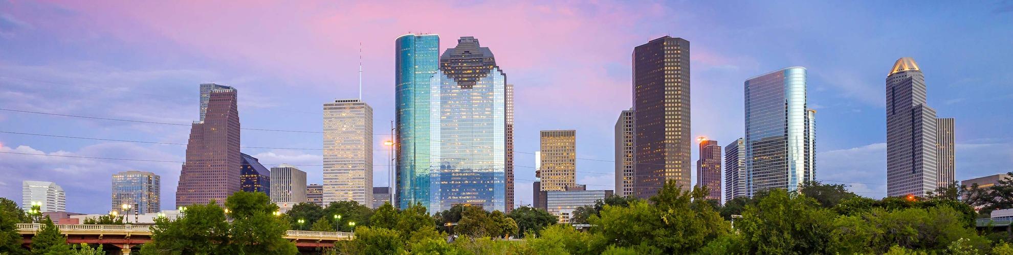 Houston downtown map  Map of downtown Houston Texas  USA